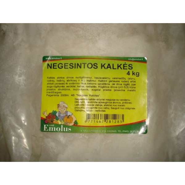 KALKĖS NEGESINTOS (4 KG)
