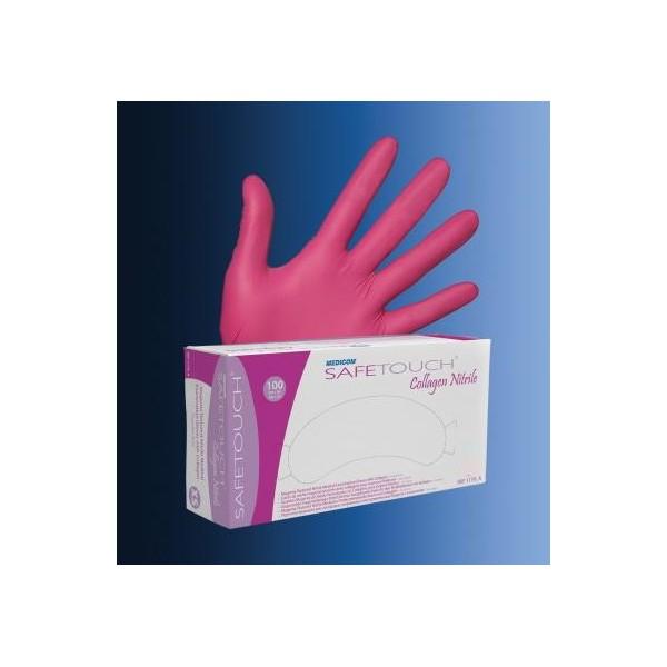 Pirštinės Medicom nitrilas M Pink N100